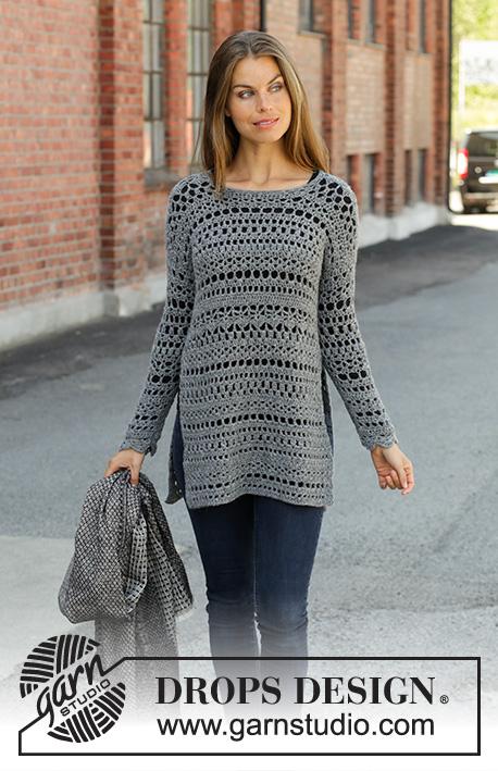 Free Crochet Pattern for a Sweater Grey Sparrow ⋆ Crochet Kingdom