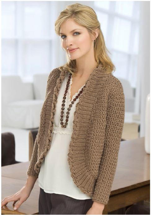 Reading Room Crochet Sweater | AllFreeCrochet.com