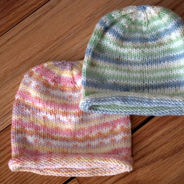 Easy Paintpot Baby Hat Free Knitting Pattern u2014 Blog.NobleKnits