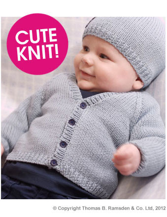 Eight-by-Six: free knitting pattern - baby cardigan Twilleys Freedom