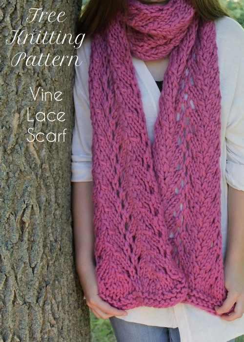 Vine Lace Scarf | AllFreeKnitting.com