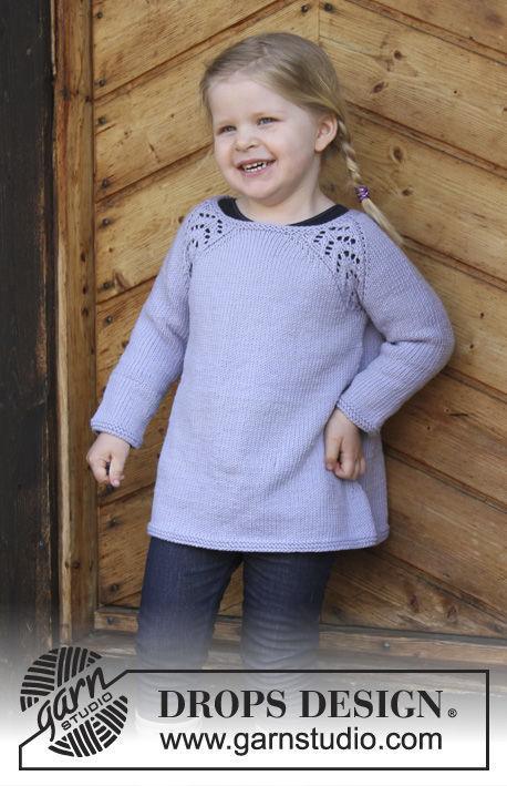 Girls (toddler, children) pullover Tickles. Free knitting pattern.