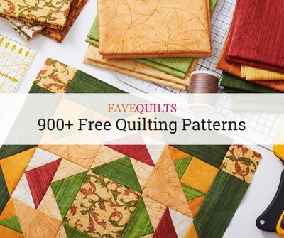 900+ Free Quilting Patterns | FaveQuilts.com