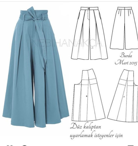 FREE PATTERN ALERT: 15+ Pants and Skirts Sewing Tutorials - On the