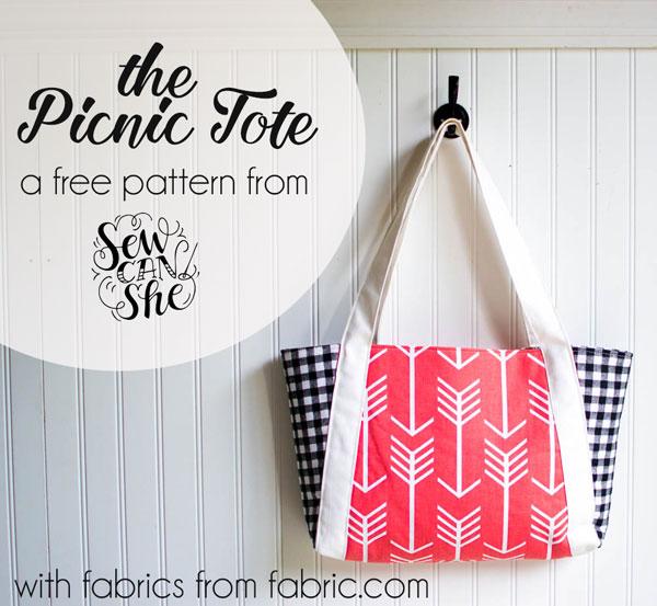The Picnic Tote free sewing pattern! u2014 SewCanShe | Free Sewing