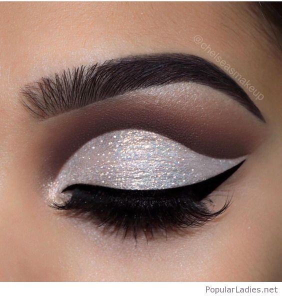 Glam white glitter eye makeup in 2019 | Looks | Makeup, Eye Makeup