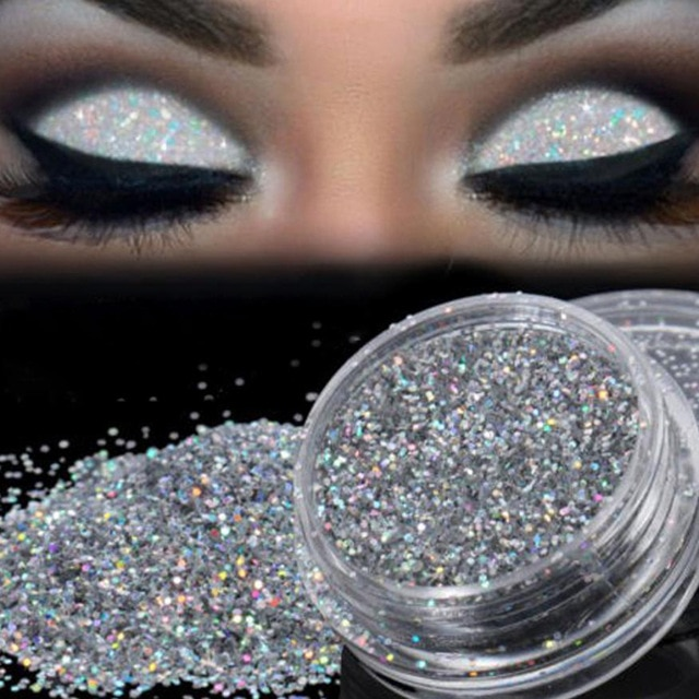 Sparkly Makeup Glitter Loose Powder EyeShadow Silver Eye Shadow