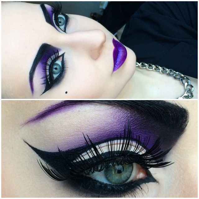 I love everything about this! gorgeous purple and black | Beauty