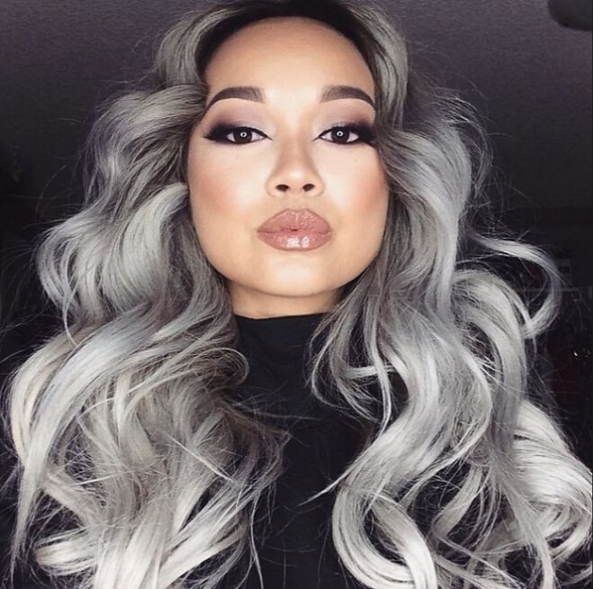 Sliver Gray Hair Color Dye Cream Grey Hair Colour Permanent Hair