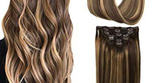 Amazon.com : Googoo Hair Extensions Clip in Ombre Chocolate Brown to
