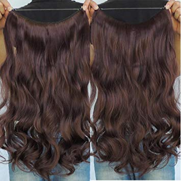 Amazon.com : Secret Halo Hair Extensions Flip in Curly Wavy Hair