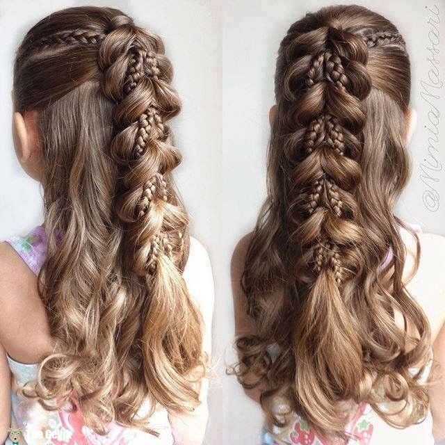 20+ Fancy Little Girl Braids Hairstyle | Craft Ideas | Hair styles