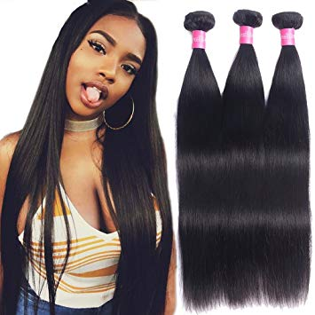 Amazon.com : Brazilian Straight Virgin Hair Weave 3 Bundles 10A