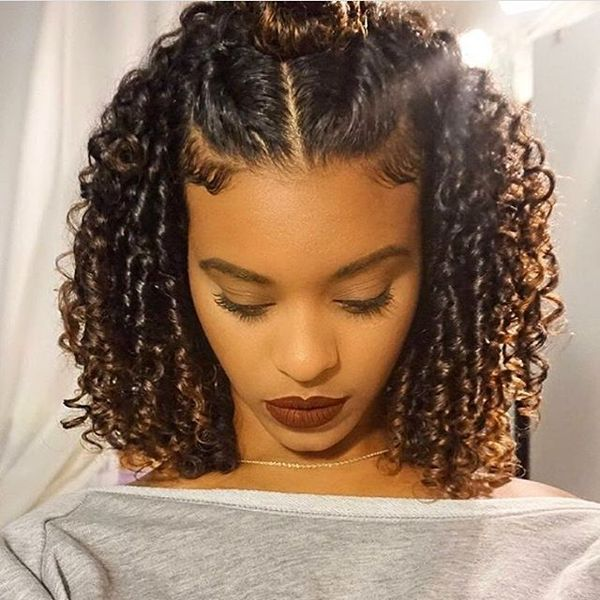 Curly haircuts, black natural curly hairstyles.