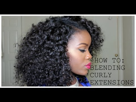 How To| Blending Your Natural Hair With Curly Extensions (No Heat