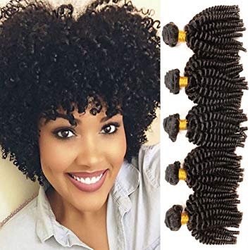 Amazon.com : Aliglossy Afro hair Mongolian afro kinky curly hair, 3