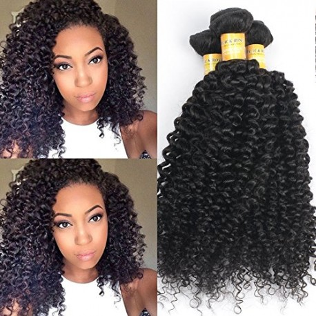 Black Rose Grade 6A Remy Curly Weave Human Hair Extensions Brazilian