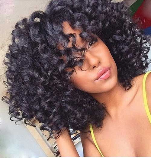 Hairstyles for Curly hair extensions