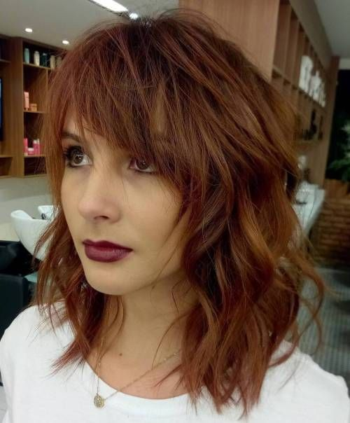 20 Modern Ways to Style a Long Bob with Bangs   Hairstyles and