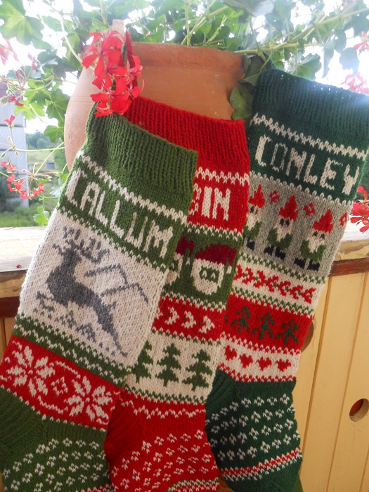 Interior. Personalized Knit Christmas Stockings: 2019 Personalized