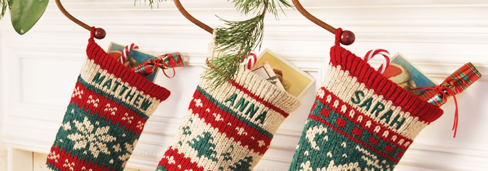 Personalized Christmas Stockings, Knitted Christmas Stockings
