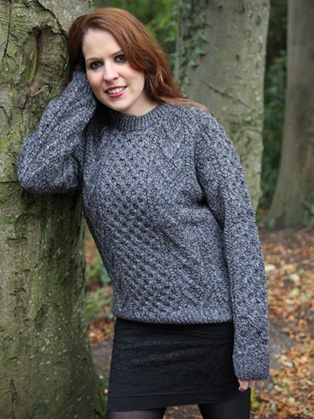 Womens Plus Size Cable Knit Aran Sweater | The Sweater Shop, Ireland
