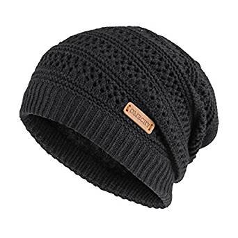 OMECHY Slouchy Beanie Hats Unisex Daily Knit Skull Cap Winter Warm