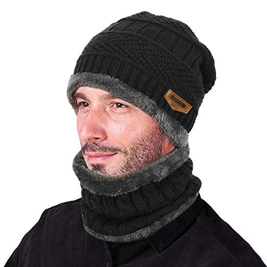 Amazon.com: VBIGER 2-Pieces Winter Beanie Scarf Set Warm Hat Thick