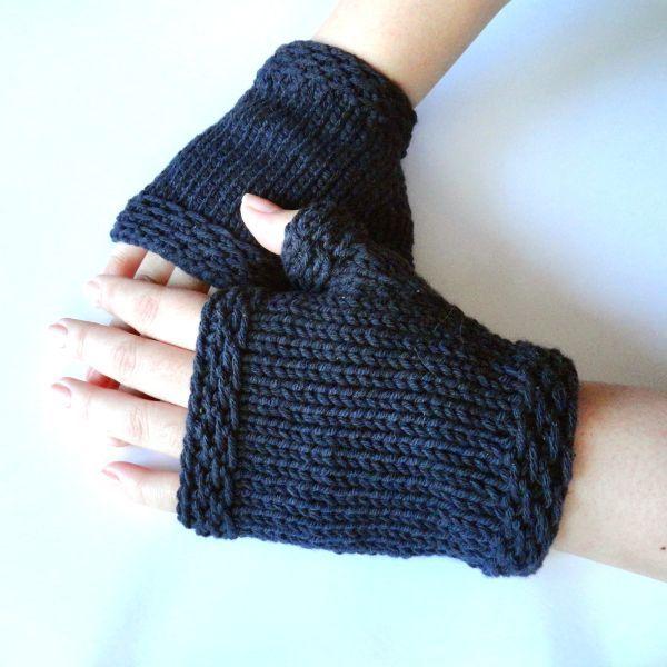 Free Knitting Pattern - Fingerless Gloves & Mitts: Easy Knit