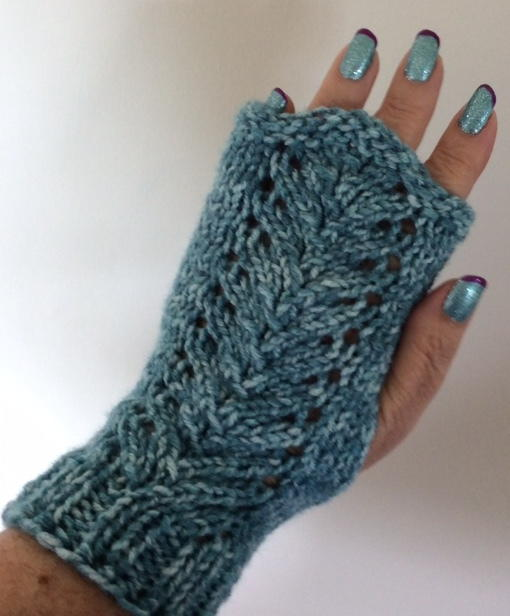 Lacy Vine Fingerless Gloves | AllFreeKnitting.com