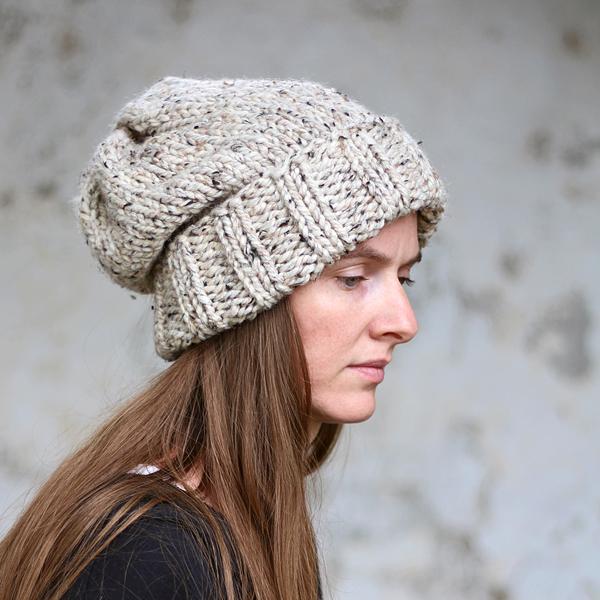 WISDOM : Women's Slouchy Hat Knitting Pattern - Brome Fields