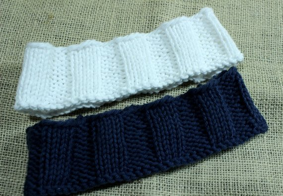 Knitting Pattern for Headband Wide Knit Headband Design Easy | Etsy