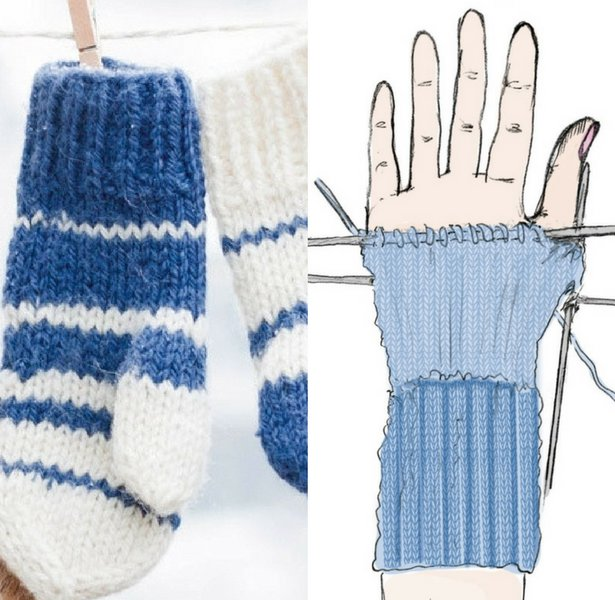 Easy-Knit Mittens for Any Size Hands u2013 Sewing Blog | BurdaStyle.com