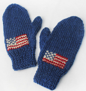 Team USA Knit Mittens | AllFreeKnitting.com