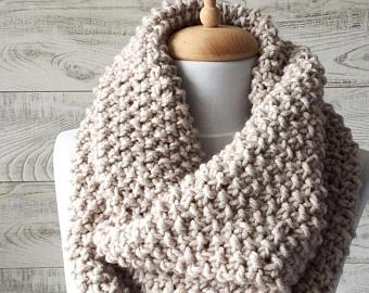 Knit infinity scarf | Etsy