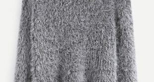 Fuzzy Chunky Knit Sweater | SHEIN