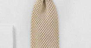 Golden Beige Colored Silk Knit Tie   Bows-N-Ties.com