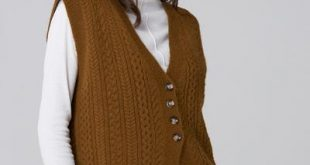 Moss Green Cable Knit Vest u2013 OwnTheLooks