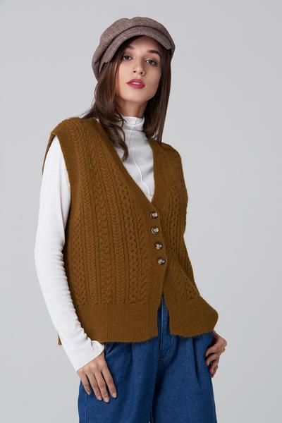 Knit vest is the most famous hand-made textiles