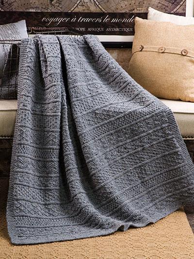 ANNIE'S SIGNATURE DESIGNS: Gansey Afghan Knit Pattern