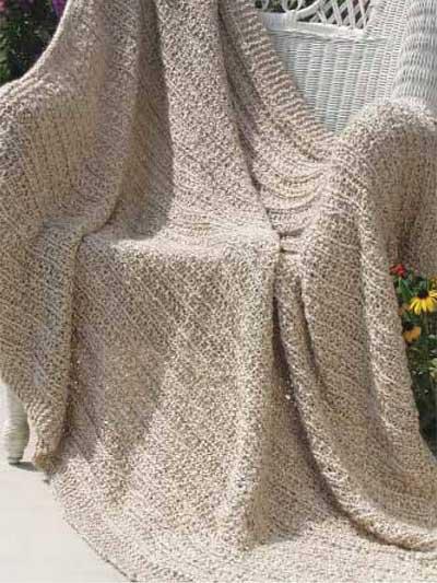 Free Afghan & Throw Knitting Patterns - Homespun Stripes Afghan