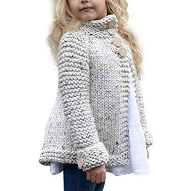 Amazon.com: Sunbona Toddler Baby Girls Cute Autumn Button Knitted