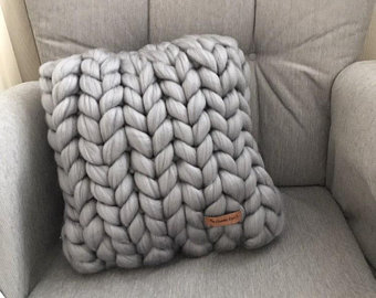 Knitted cushions   Etsy