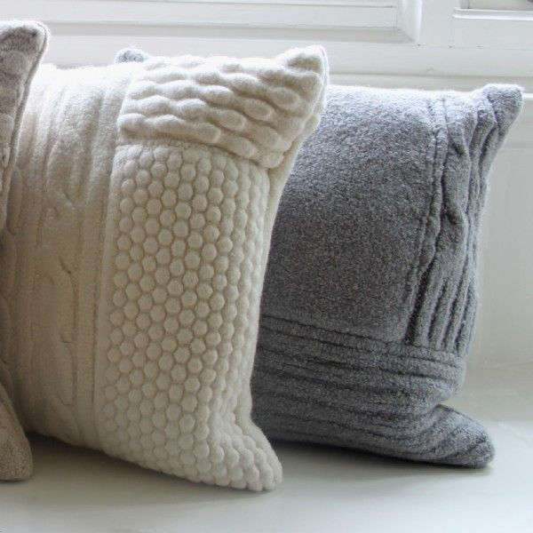 Hand-knitted Cushions - just watch the cat's claws! | crochet