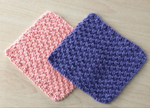 Knit and Purl Dishcloths | AllFreeKnitting.com