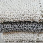 Various types of Knitted dishcloths in   seasonal colors