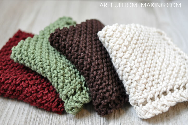 Grandmother's Favorite Dishcloth Knitting Pattern - Artful Homemaking