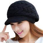 Loritta Womens Winter Warm Knitted Hats Slouchy Wool Beanie Hat Cap