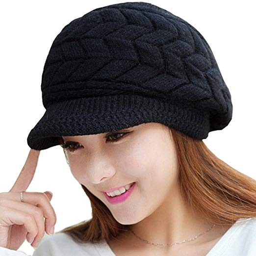 Loritta Womens Winter Warm Knitted Hats Slouchy Wool Beanie Hat Cap
