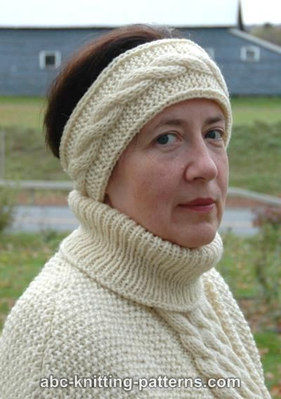 ABC Knitting Patterns - Easy Headband with Cable